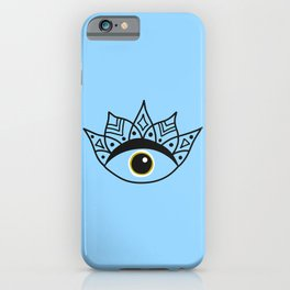 Greek eye | good luck | luck charm iPhone Case