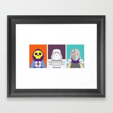 Cute Villains Set 1 Framed Art Print