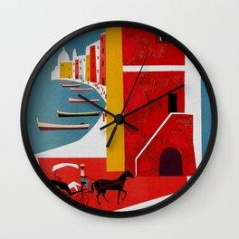 Vintage Procida Island Italy Wall Clock