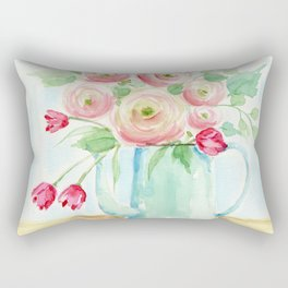 Tulips and French Enamelware Rectangular Pillow