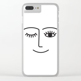 Wink Clear iPhone Case