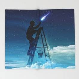 Star Builder Throw Blanket