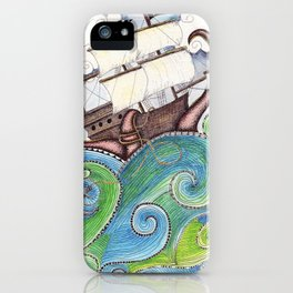 Pirate Peril iPhone Case
