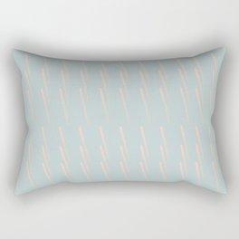 Plastic New Colors Hot Peach Beach Bleached Cyan Smash Brand Working Pattern Series Rectangular Pillow