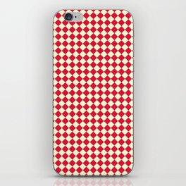 Cream Yellow and Crimson Red Diamonds iPhone Skin