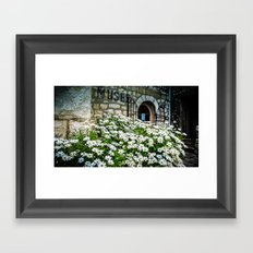 Museum & wild flowers - France Framed Art Print