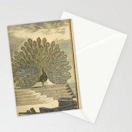 001 Pave Peacock Stationery Cards