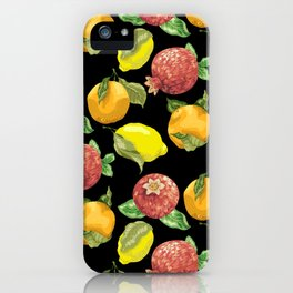 Juicy Fruits in Graphic Realistic Pattern iPhone Case