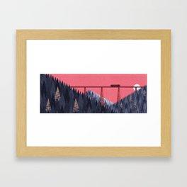 Railroad bridge II Framed Art Print