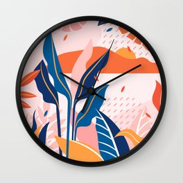 Tropical Pop Art Design Wall Clock