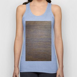 Rustic brown gold wood texture Unisex Tank Top