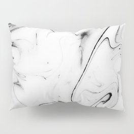 Elegant white marble image Pillow Sham