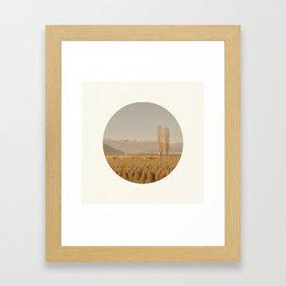 Landscape Circular Framed Art Print