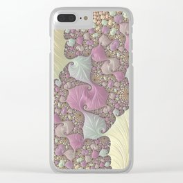 Pastel colored fractal digital art Clear iPhone Case