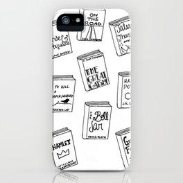 Bibliophilia (Titles) iPhone Case