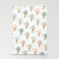 baloon Stationery Cards featuring baloon collage pattern  by flying bathtub