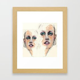 Portrait study. Rough sketch Framed Art Print