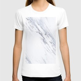 White Marble with Classic Black Veins T-shirt