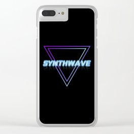 Synthwave Aesthetic Clear iPhone Case