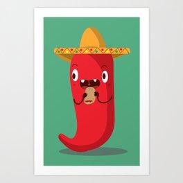 J is for Jalapeño Art Print