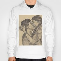 lovers Hoodies featuring Lovers by Paxelart