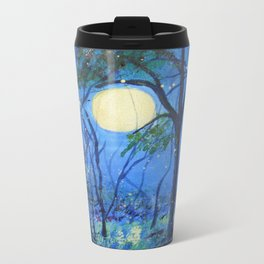 Fireflies in the Moonlight Metal Travel Mug