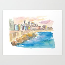 Cadiz Costa De La Luz Waterfront Art Print