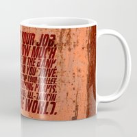 wallet Mugs featuring Fight Club by elvisbr