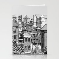seoul Stationery Cards featuring Seoul Rooftops by Jennifer Stinson