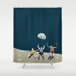 Space Jumpers  Shower Curtain