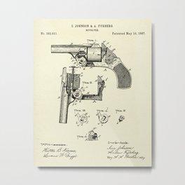 Revolver-1887 Metal Print