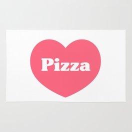 Heart Pizza Rug