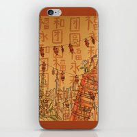 china iPhone & iPod Skins featuring China  by Nogah