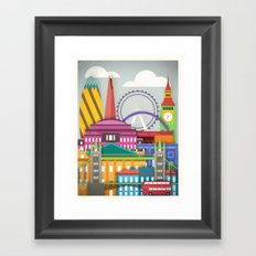 Touristique - London Framed Art Print