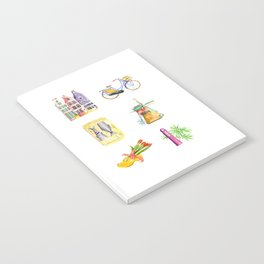 Typical Dutch wooden shoe with tulips Notebook