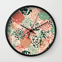 Stamped Succulents Wall Clock