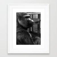 ape Framed Art Prints featuring Ape by x_al