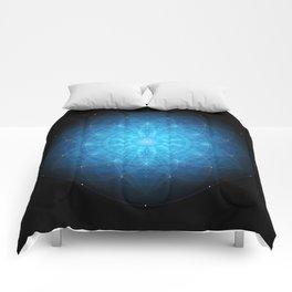 crystal mind. sacred geometry mandala Comforters