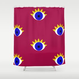 Nazar boncuk Shower Curtain