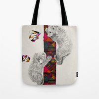 kris tate Tote Bags featuring The Innocent Wilderness by Peter Striffolino and Kris Tate by Peter Striffolino
