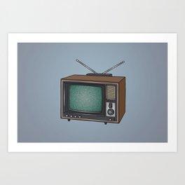 Television set TV Art Print