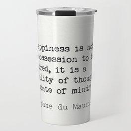 Daphne du Maurier quote Travel Mug