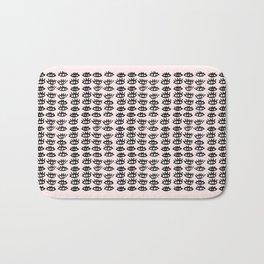 Pink Black Wall Art, Eyes Pattern, Vanity Decor, Modern, Pattern, Pop Art Bath Mat