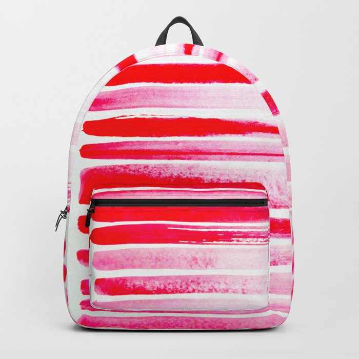 Christmas Candy Cane Red Stripe Backpack