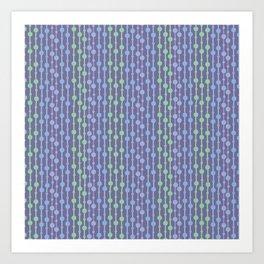 Beaded Curtain Jewel Tones Art Print