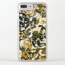 Warm Winter Garden Clear iPhone Case
