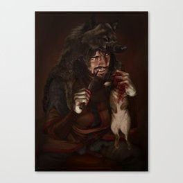 Wolf King Canvas Print