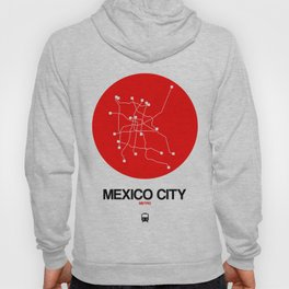 Mexico City Red Subway Map Hoody