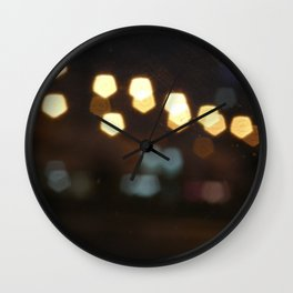 Scrached lightings Wall Clock