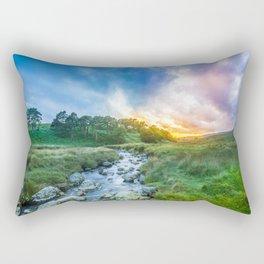 Sunset summer in Wicklow Mountains Rectangular Pillow